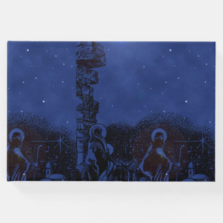 Starry Night Nativity Guest Book