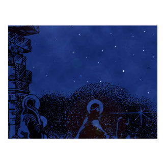 Starry Night Nativity Postcard