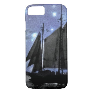 starry night ocean sea sailing ship sailboat iPhone 8/7 case