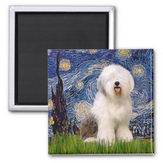 Starry Night - Old English 6 Magnet