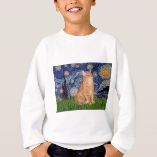 Starry Night - Orange Tabby 46 Sweatshirt