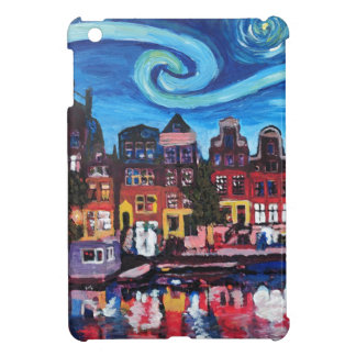 Starry Night over Amsterdam Canal Case For The iPad Mini