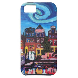 Starry Night over Amsterdam Canal Case For The iPhone 5
