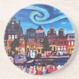 Starry Night over Amsterdam Canal Coasters