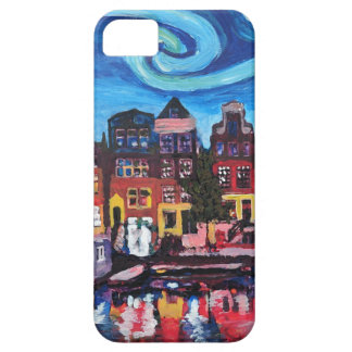 Starry Night over Amsterdam Canal iPhone 5 Cover
