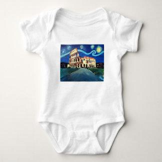 Starry Night over Colloseum in Rome Italy Baby Bodysuit