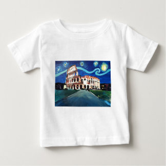 Starry Night over Colloseum in Rome Italy Baby T-Shirt