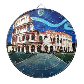 Starry Night over Colloseum in Rome Italy Dartboard
