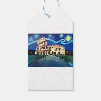 Starry Night over Colloseum in Rome Italy Pack Of Gift Tags
