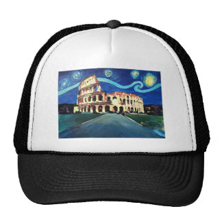 Starry Night over Colloseum in Rome Italy Trucker Hat