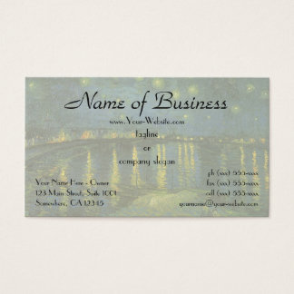 Starry Night Over Rhone by Vincent van Gogh Business Card