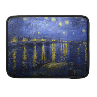 Starry Night Over Rhone van Gogh Lap Top Sleeve