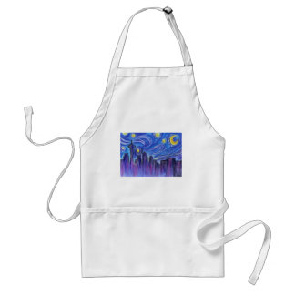 Starry Night Over Seattle Standard Apron