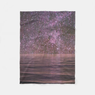 Starry Night over the Ocean Fleece Blanket