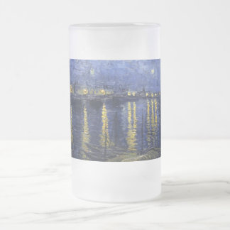 Starry Night Over the Rhone 16 Oz Frosted Glass Beer Mug