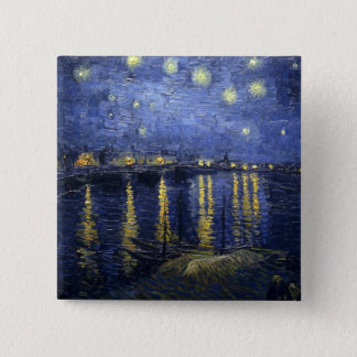 Starry Night Over the Rhone 2 Inch Square Button