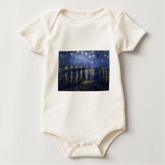 Starry Night Over The Rhône Baby Bodysuit