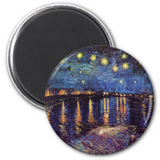 Starry night over the Rhone by Van Gogh Magnet