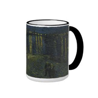 Starry Night Over the Rhone by Van Gogh Ringer Coffee Mug