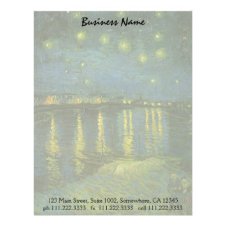 Starry Night Over the Rhone by Vincent van Gogh Letterhead