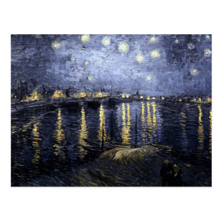 Starry Night Over the Rhone by Vincent Van Gogh Postcard