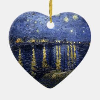 Starry Night Over The Rhône Ceramic Ornament