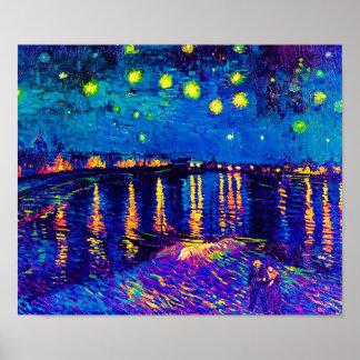 Starry Night Over The Rhone Pop Art Print