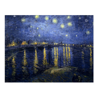 Starry Night Over The Rhone Postcard