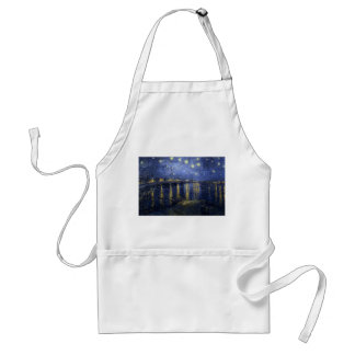 Starry Night Over the Rhone - Van Gogh (1888) Standard Apron