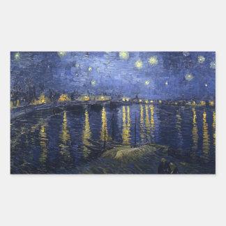 Starry Night Over the Rhone - Van Gogh (1888) Sticker