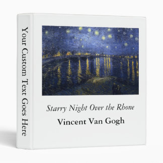 Starry Night Over the Rhone - Van Gogh (1888) Vinyl Binder