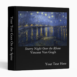 Starry Night Over the Rhone - Van Gogh (1888) Vinyl Binders