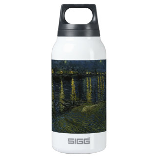 Starry Night Over the Rhone - Van Gogh Insulated Water Bottle