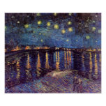 Starry Night Over the Rhone - Van Gogh Poster