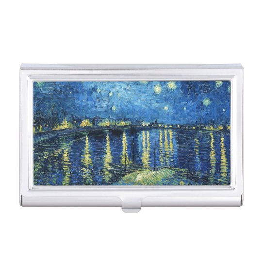 Starry Night over the Rhone Vincent van Gogh art Business Card Holder