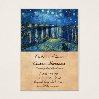 Starry Night over the Rhone Vincent van Gogh Business Card