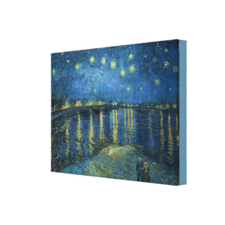 Starry Night Over The Rhone Vincent van Gogh Canvas Print