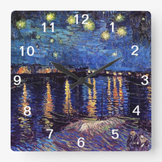 Starry Night over the Rhone, Vincent Van Gogh Clocks