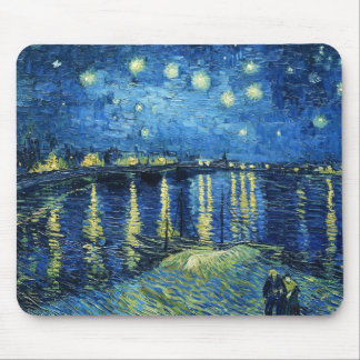 Starry Night over the Rhone Vincent van Gogh Mouse Pad