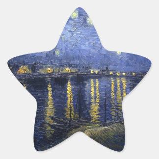 Starry Night Over The River Rhone Star Sticker