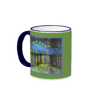 Starry Night Over the River Rhone Van Gogh Ringer Mug