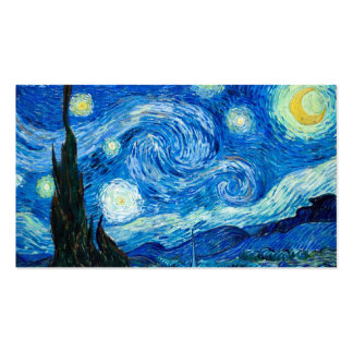 Starry Night Painting By Painter Vincent Van Gogh Business Card