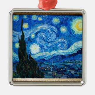Starry Night Painting By Painter Vincent Van Gogh Metal Ornament
