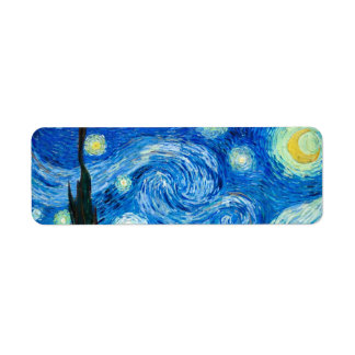 Starry Night Painting By Painter Vincent Van Gogh Return Address Label