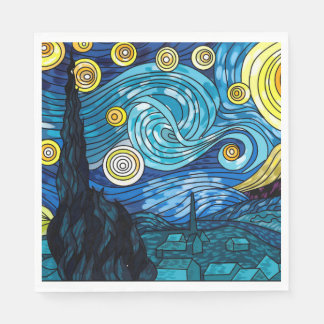 Starry Night  Paper Napkins