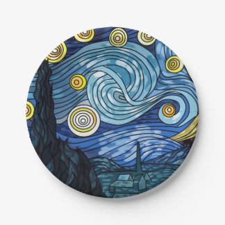 Starry Night  Paper Plates