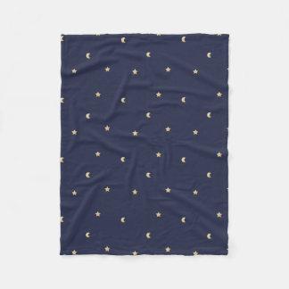 Starry Night Pattern Fleece Blanket