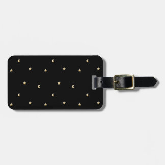 Starry Night Pattern Luggage Tag