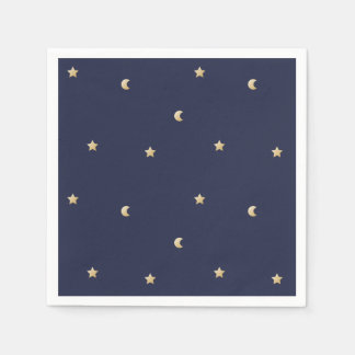 Starry Night Pattern Paper Napkins