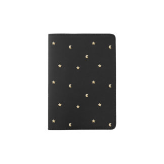 Starry Night Pattern Passport Holder